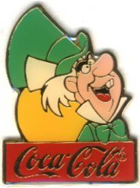 Disney Alice in Wonderland Mad Hatter Cast Member coke Pin Pins