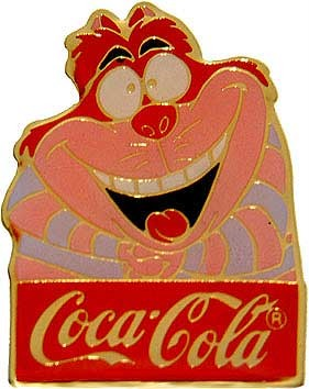 Disney Cheshire Cat Alice in Wonderland Cast Member coke Pin Pins