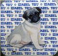 Beverage Coasters - Pug Puppy - Mazel Tov - Jewish - Zeppa Art