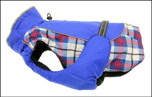Alpine All Weather Dog Coat - Royal Blue Plaid