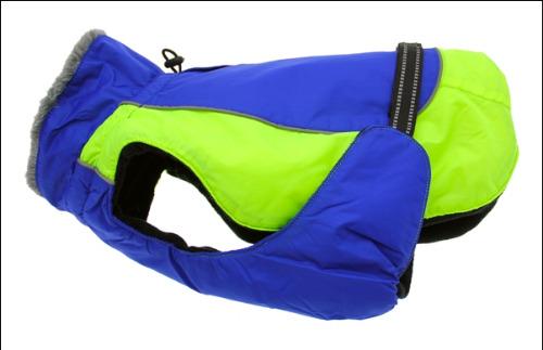Alpine All Weather Dog Coat - Cobalt Blue & Iridescent Green