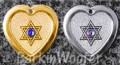 Animal Stars Jewish Star of David -  Swarovski Crystal Dog Cat Pet ID Tags - Engraved