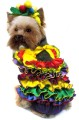 Calypso Queen dog costume - dress with a fruit hat - Inspired by Carmen Miranda