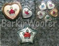 Crown painted pet ID tags with coordinating Swarovski Crystals