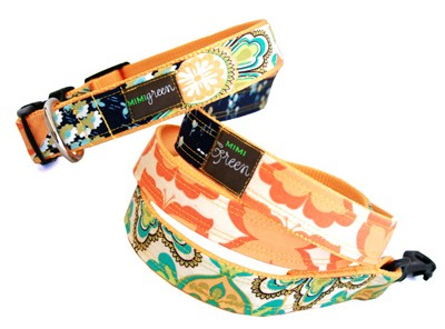 Lola - Fashion Dog Collar and Lead by Mimi Green - Standard or Martingale