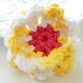 Hand Crocheted Dog Collar Flower - Popcorn - Collar Accessory