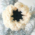Hand Crocheted Dog Collar Flower -Snowflake - Collar Accessory