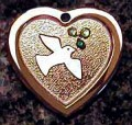 Animal Stars Peace Dove  Pet ID Tag - Heart