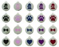 MegaTags Stainless Steel Pet ID Tags - 4 Designs - 5 Colors