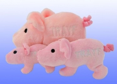 Trayf the Pig - Plush Pink Dog Chew Toy - Jewish Chewish Treats