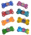 Peace Bone Dog ID Tags - Many Color Options