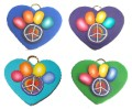 Peace Paw Hearts - Pet ID Tags - Many Color Options