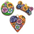 Bouquet Dog Cat Pet ID Tags - Available in 3 Colors and 3 Shapes