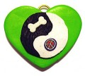 Heart Yin Yang - Dog Cat Pet ID Tags - Many Color Options