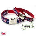 Patriot Pup - dog collar from the Murphy & Gus Collection by Flying Dog - Red - White, Blue