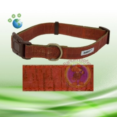 "Earth Friendly ""Heartfelt"" Cork and Hemp Dog Collar"