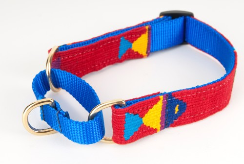 Foolish fish red hand woven martingale dog collar for Fish dog collar