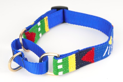 Harborside: Daybreak - Martingale Dog Collar Hand-woven by Mayan Artisans in Guatemala