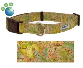 Earth Friendly &quot;Butterfly Garden&quot; Cork and Hemp Dog Collar