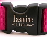 Black Plastic Buckle Engraving Example