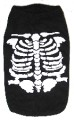 Black Sleeveless T-Shirt with Glow-in-the-Dark Skeleton - for Dogs and Puppies