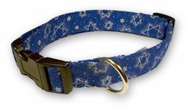 Hanukah - Dog Collars and Leads from Elmo's Closet
