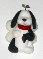 Pin - Someone to Watch Over You - Black & White Dog Angel with Halo