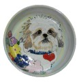Babbalonia - Shih Tzu Ceramic Dog Bowl Handcrafted by Debby Carman