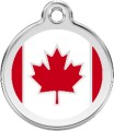 Red Dingo Pet ID Tag - Canadian Flag