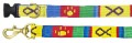 BestFriend - Collar and Leash - Handwoven in Guatemala - Green, Yellow, Blue, Red