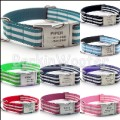Cabana Stripe - Designer dog collar by Flying Dog with engraved buckle - 9 Color Options