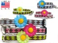 Gerber Daisy Collars and Leads for small dogs - 3 color options