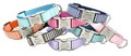 Chevron -  Designer dog collar by Flying Dog with engraved buckle - 8 Color Options