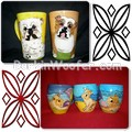 Examples of Custom Handcrafted and Hand Painted Latte and Coffee Cups