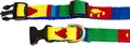 Puppy Love - Collar and Leash - Handwoven in Guatemala - Green, Yellow, Blue, Red