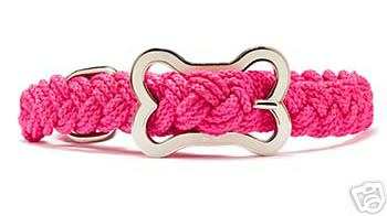 Sailor's Knot Braided Dog Collar - Pink