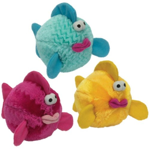 Griggles bubble gabber fish plush dog toy just for pets for Fish dog toy