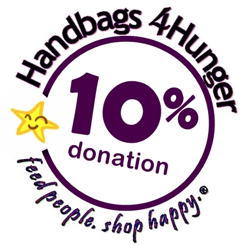 Handbags4Hunger donates 10% to charity