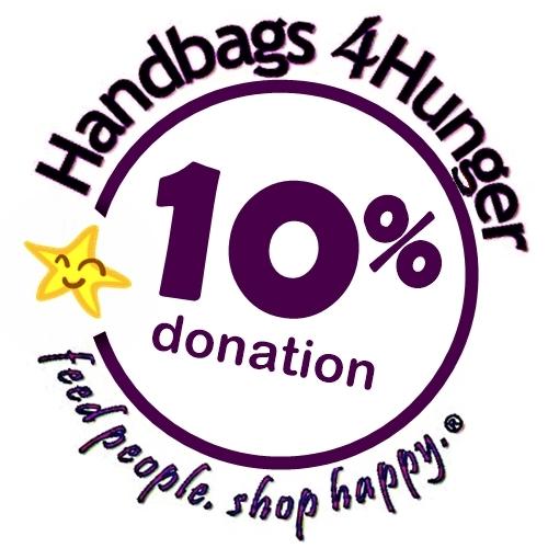 Handbags4Hunger donates 10% to charity