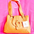 Wilsons Yellow Leather Handbag