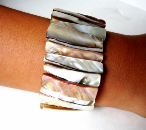 Stretch Shell Cuff bracelet FREE gift with purchase