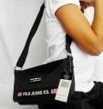 RALPH LAUREN Polo Black Adjustable Strap Handbag Purse Bag