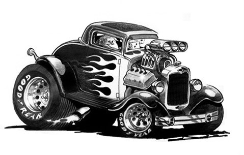 Hot Rod Cartoons Vintage Related Keywords amp Suggestions