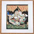 Traditional Thai Art Print on Fine Cotton No. 005