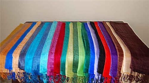 Thai Silk Scarf Wrap One Color Wholesale Pack Large 50  Beautique  Thailand Silk Scarves Wholesale