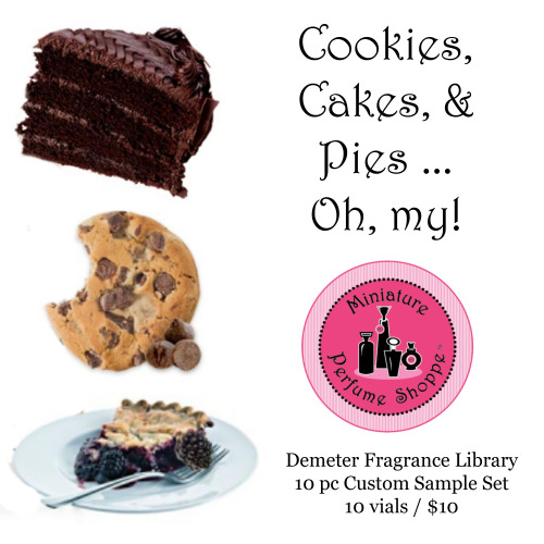 Demeter 10 pc Sample Set  (Cookies, Cakes, Pies)