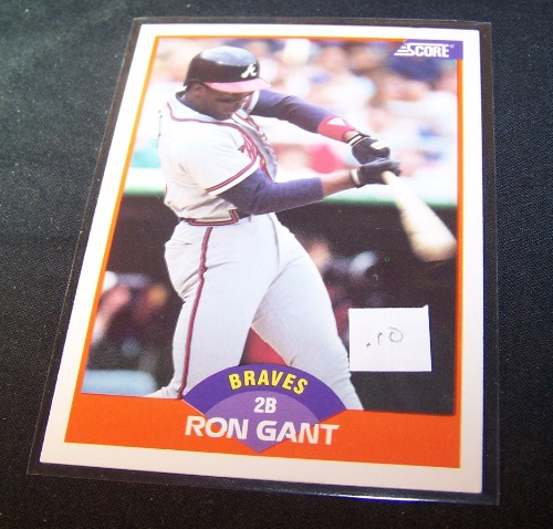 John Smoltz 1989 Donruss Rookie Card 642 Atlanta Braves: 1989 Ron Gant Score Rookie Cards #372 Atlanta Braves Card