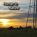human in nature photography button