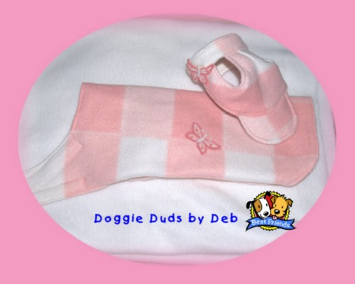 Pink Fleece hat &amp; coat.JPG