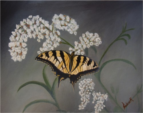 Painting - butterfly on bush 2.jpg